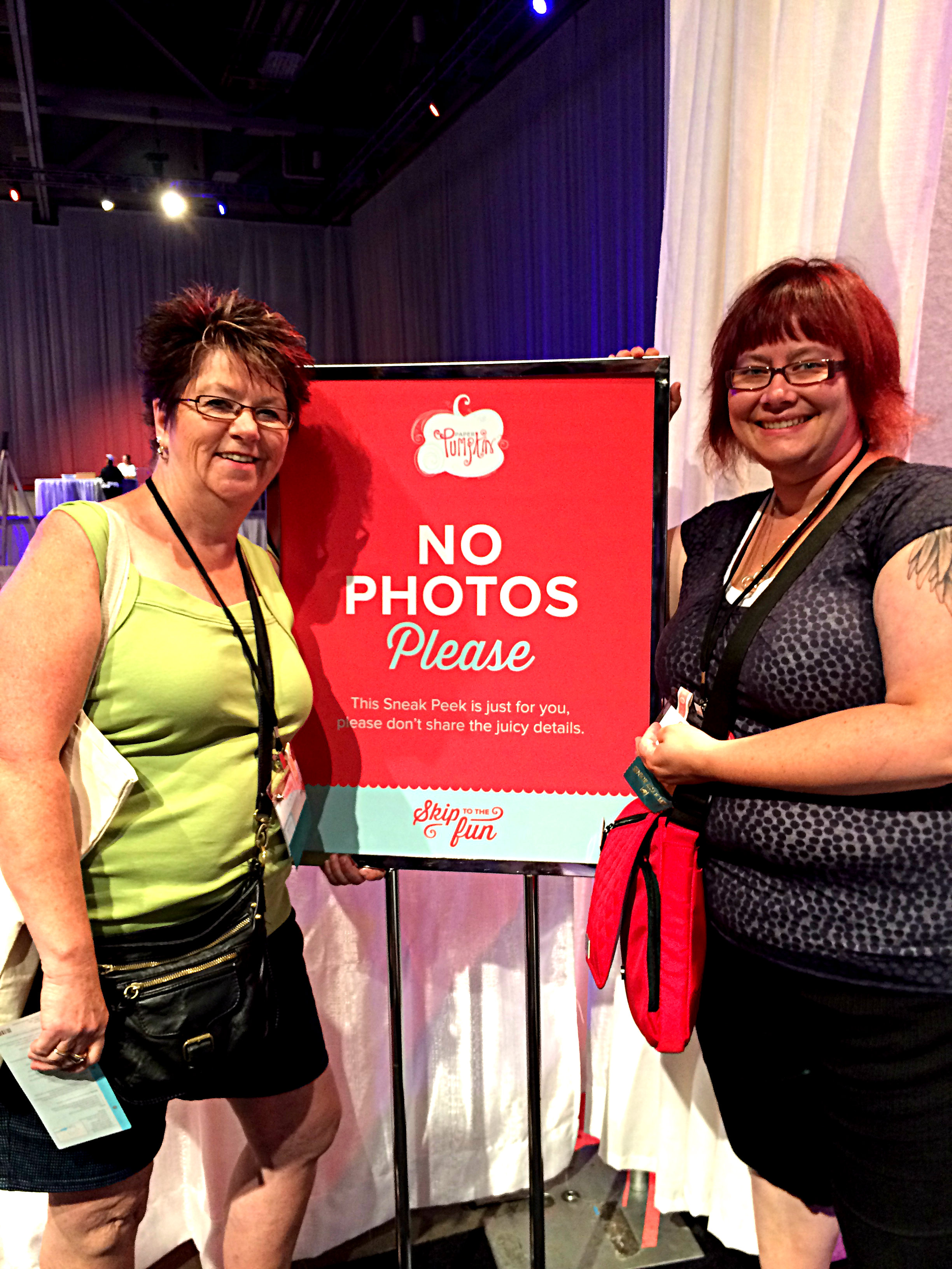 We thought it was very funny to take a picture at the sign that says don't take a picture, lol!