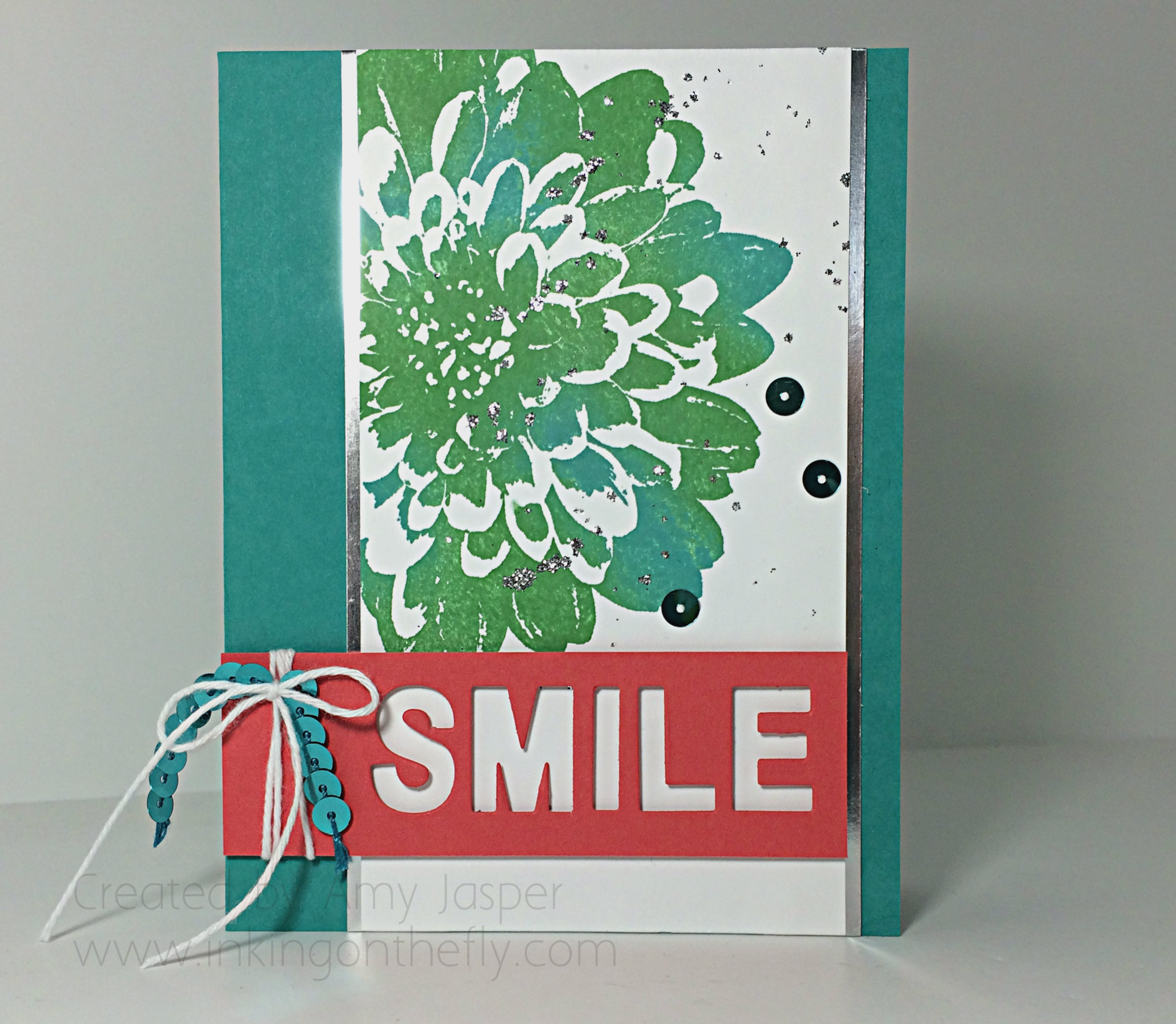 Just Smile card created by Amy Jasper