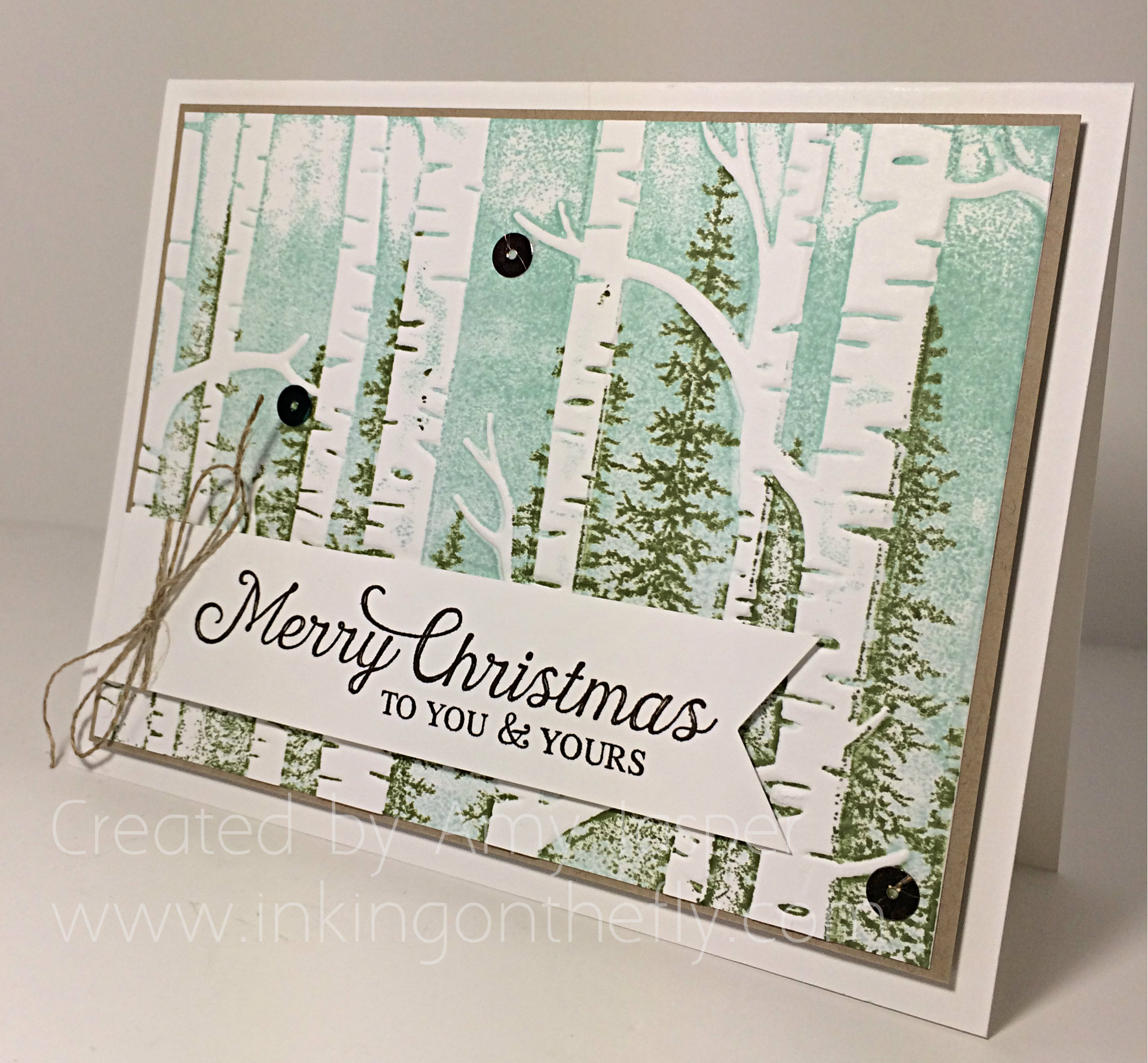 Woodland Embossing Folder card tutorial by Amy Jasper www.inkingonthefly.com