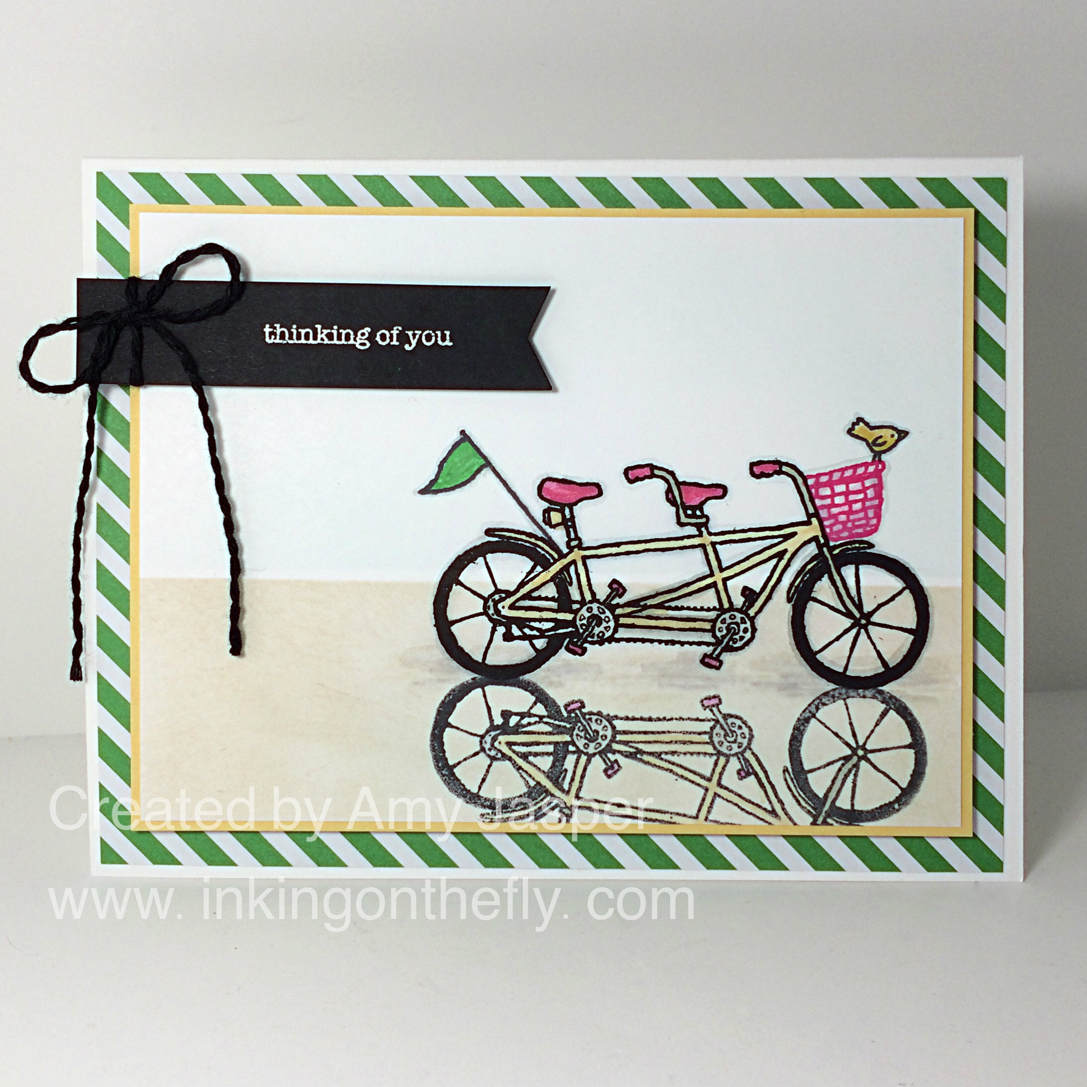 Pedal Pusher Reflection card by Amy Jasper www.inkingonthefly.com