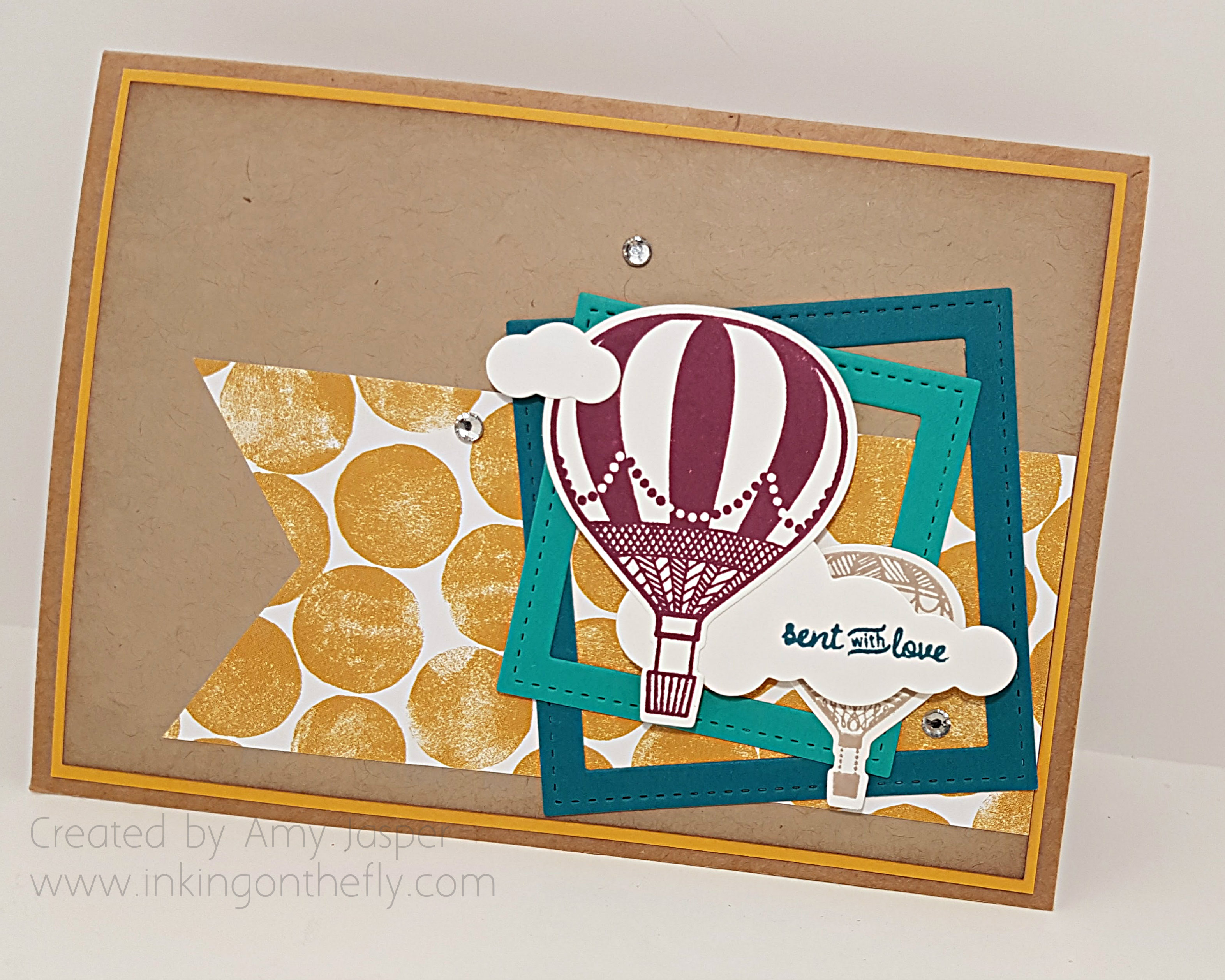 Sending Smiles Shadow Box Card by Amy Jasper www.inkingonthefly.com
